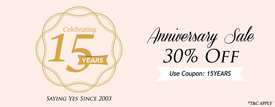 Anniversary Sale Flat 30% Off - 123WeddingCards