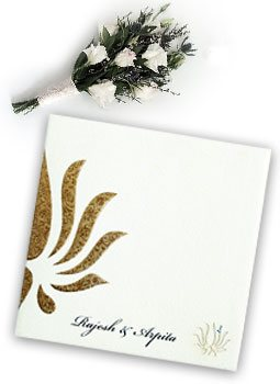 Embossed Wedding Invitations-123WeddingCards