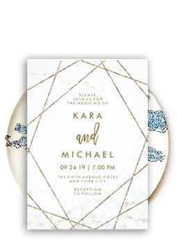 Foil Stamped Wedding Invitations-123WeddingCards