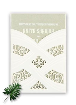 Laser Cut Wedding Invitations-123WeddingCards