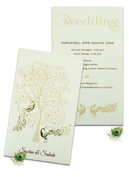 Peacock Theme Cards-123WeddingCards