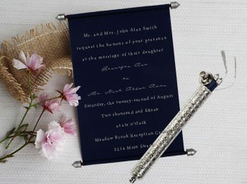 Scroll Wedding Cards-123WeddingCards