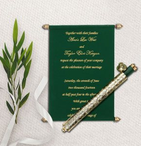 Scroll Wedding invitations-123WeddingCards