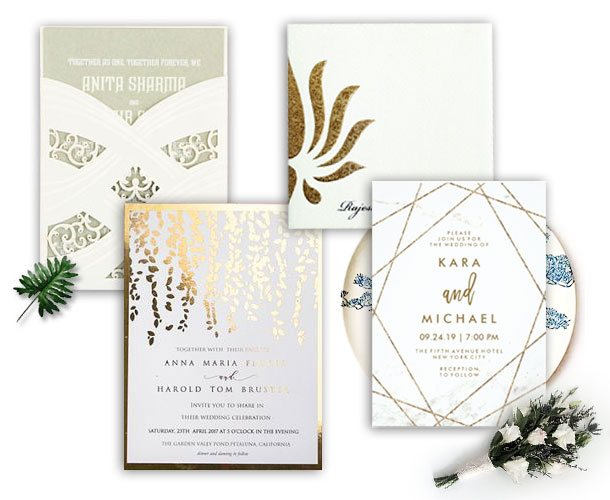 Trendy Wedding Invitations Online-123WeddingCards