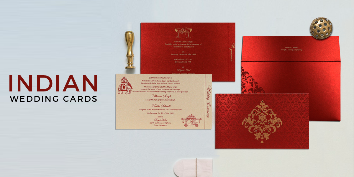 123 Wedding Invitations: Modern Indian Wedding Invitations