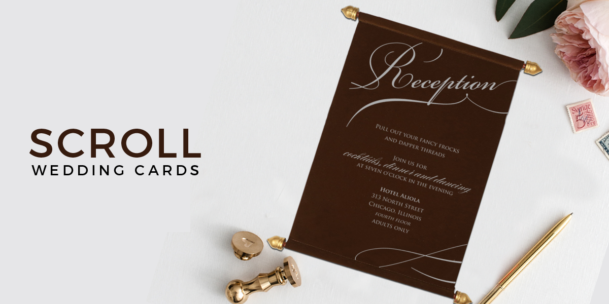 123 Wedding Invitations: Scroll Wedding Invitations