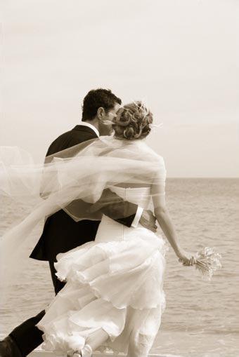 True wedding couple