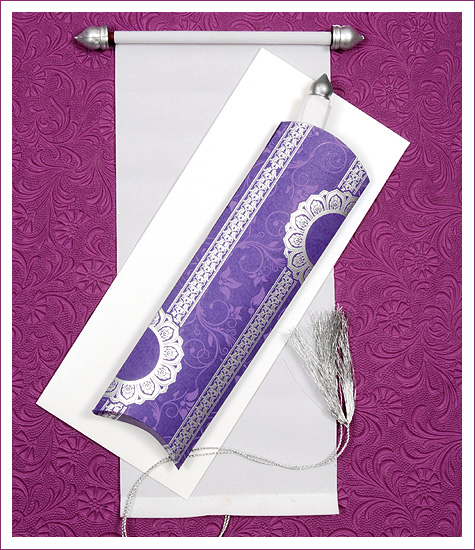 scroll wedding cards, scroll wedding invitations
