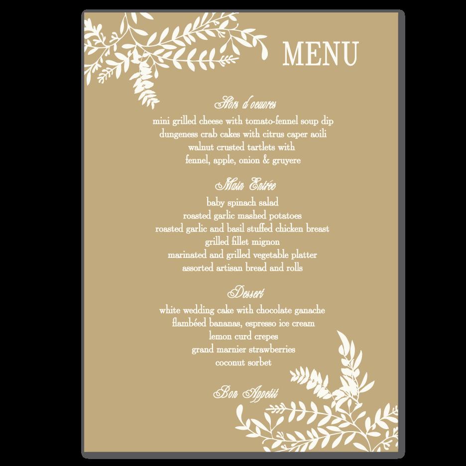 wedding-menu