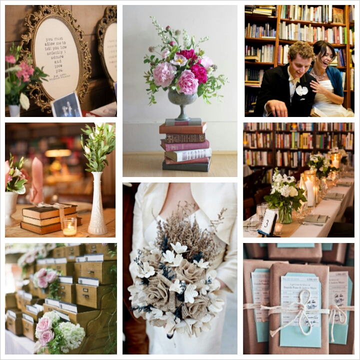Library Inspired Wedding