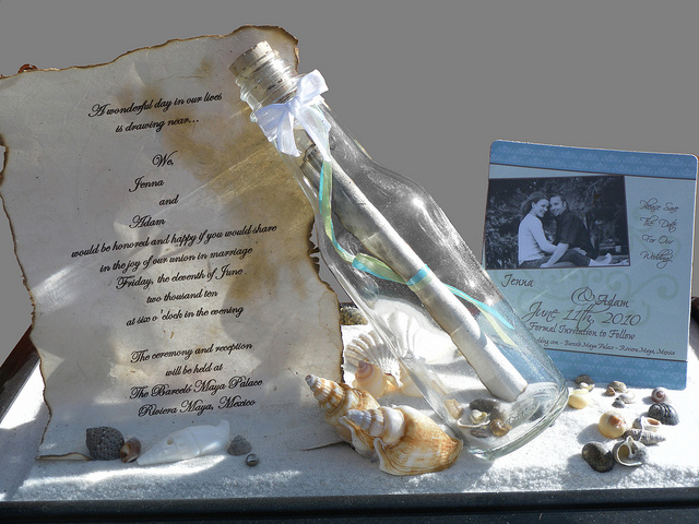 Message In A Bottle Invitation Cards