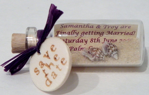 message in a bottle wedding invitation - Message In A Bottle Wedding Invitations
