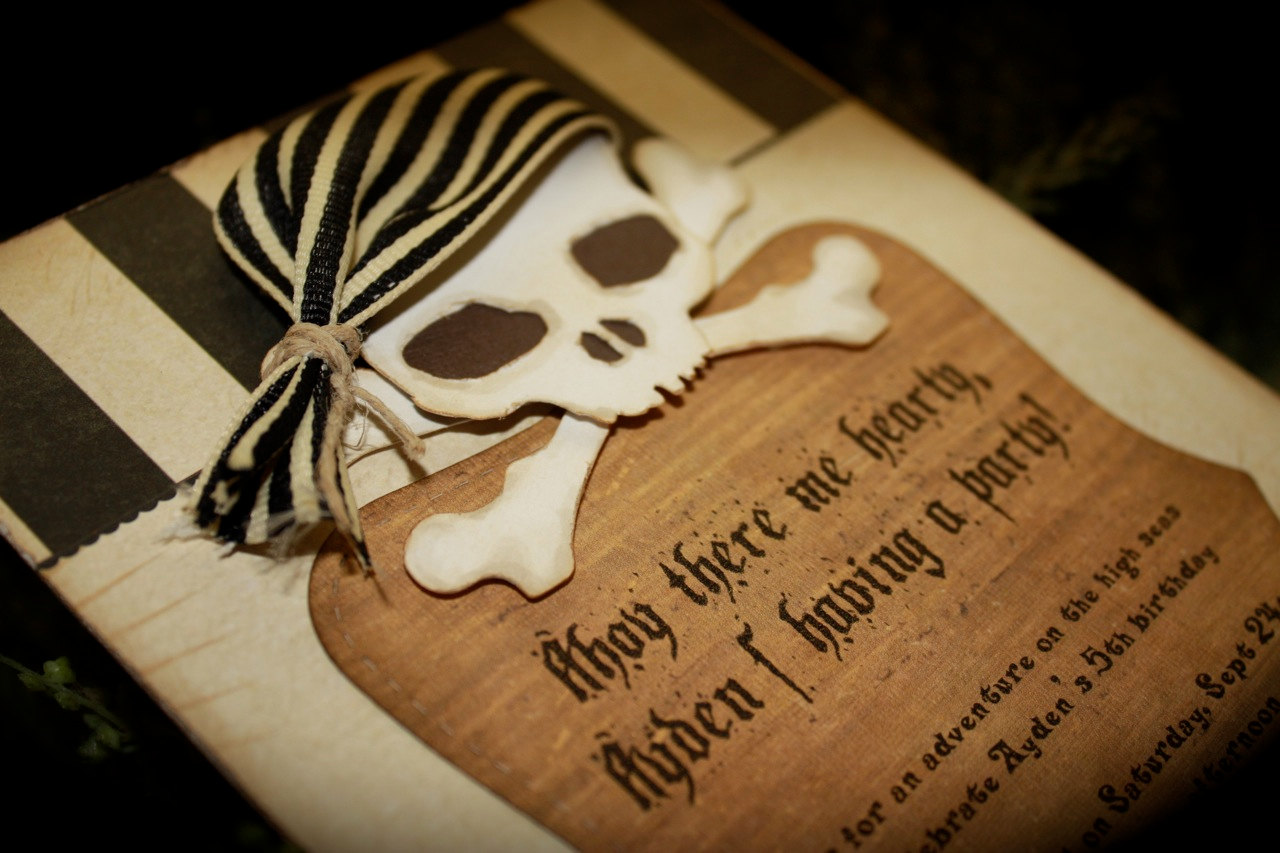 Pirate Themed Wedding Invitation | Pirate Wedding Invitations ...