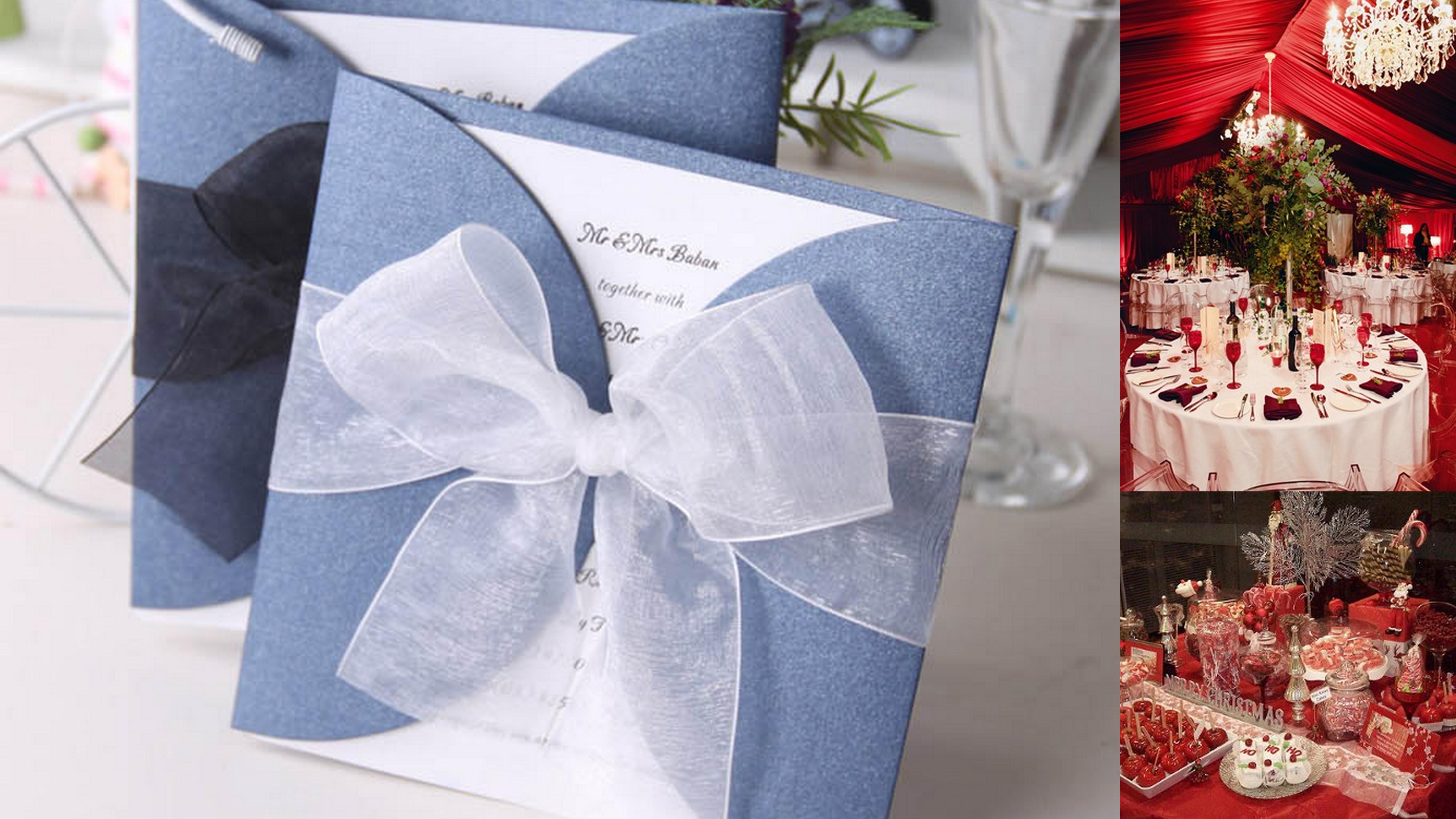 Christmas Themed Wedding Card