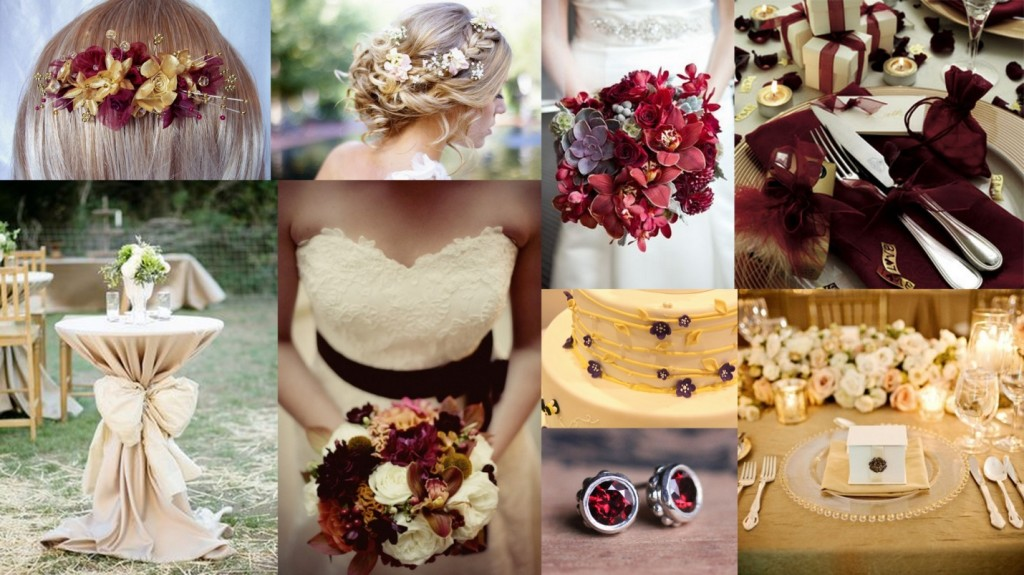 Gold & Burgundy Theme Wedding