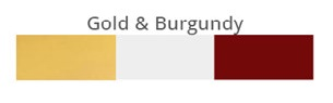 Gold & Burgendy