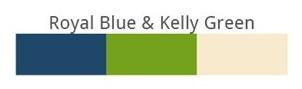 Royal blue & Kally Green
