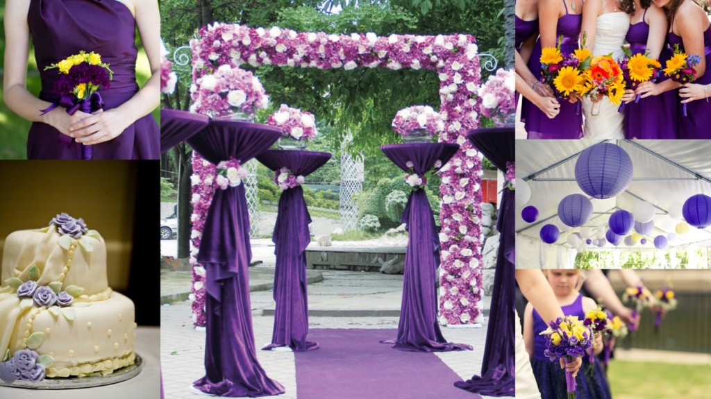 Purple & Yellow Theme Wedding