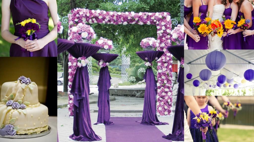 Purple & Yellow Theme Wedding
