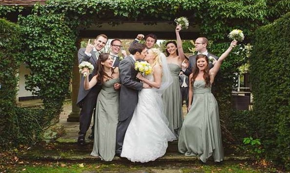 Gorgeous Best Man and Bridesmaids