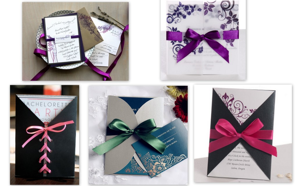 Ribbon Tied invitations