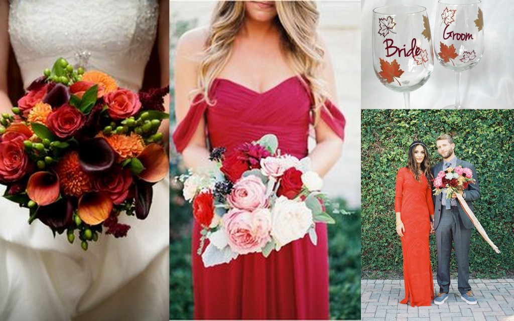 bridesmaids fall wedding theme