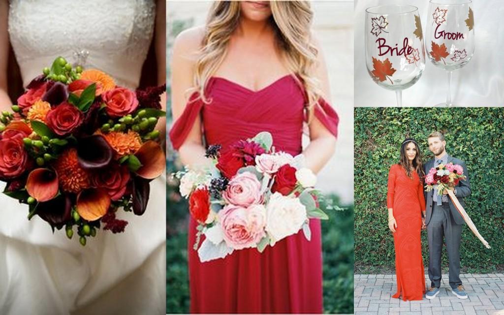 bridesmaids fall wedding theme