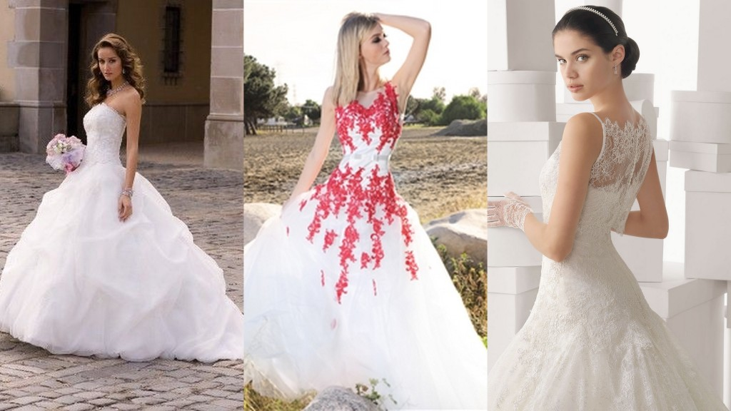 Square body shape wedding gowns