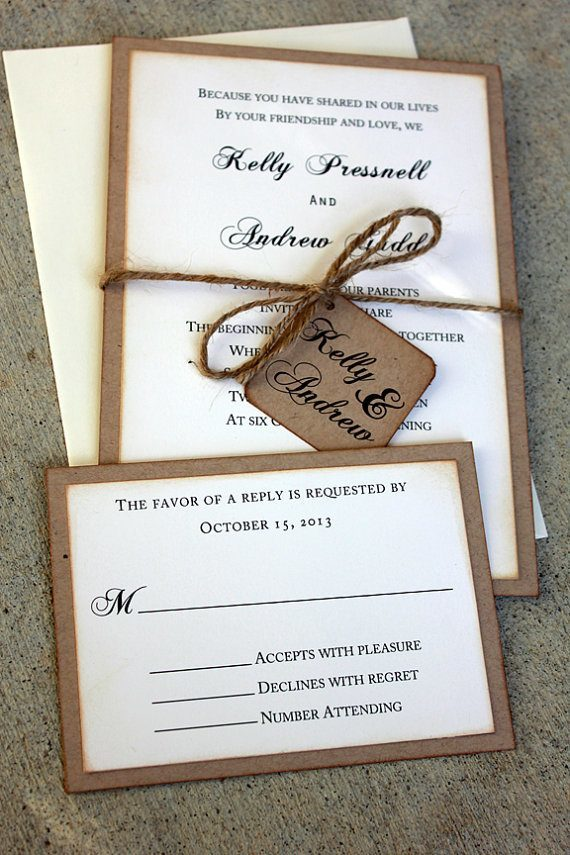 20 rustic wedding invitations ideas | rustic wedding invites,