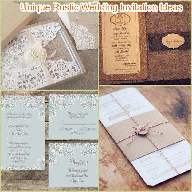 20 Rustic Wedding Invitations Ideas Rustic Wedding Invites