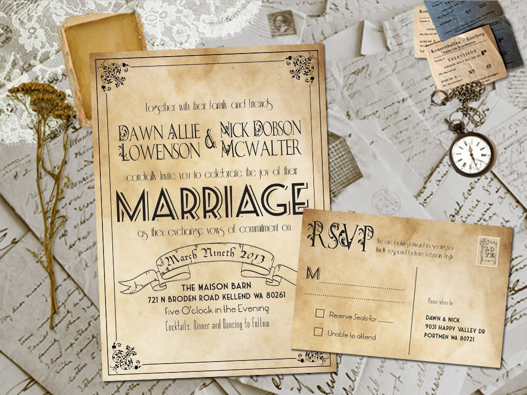 Wedding Card Invitation Ideas: 20 Rustic Wedding Invitations Ideas