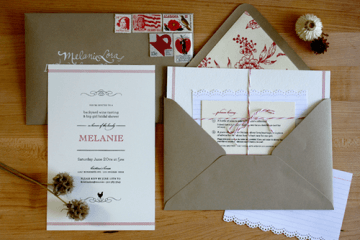 off beat wedding invitations