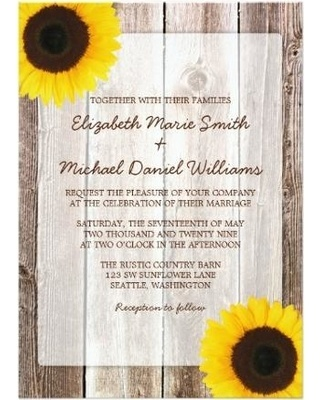 sunflower-rustic-barn-wood-wedding-invitations