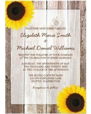 sunflower-rustic-barn-wood-wedding-invitations