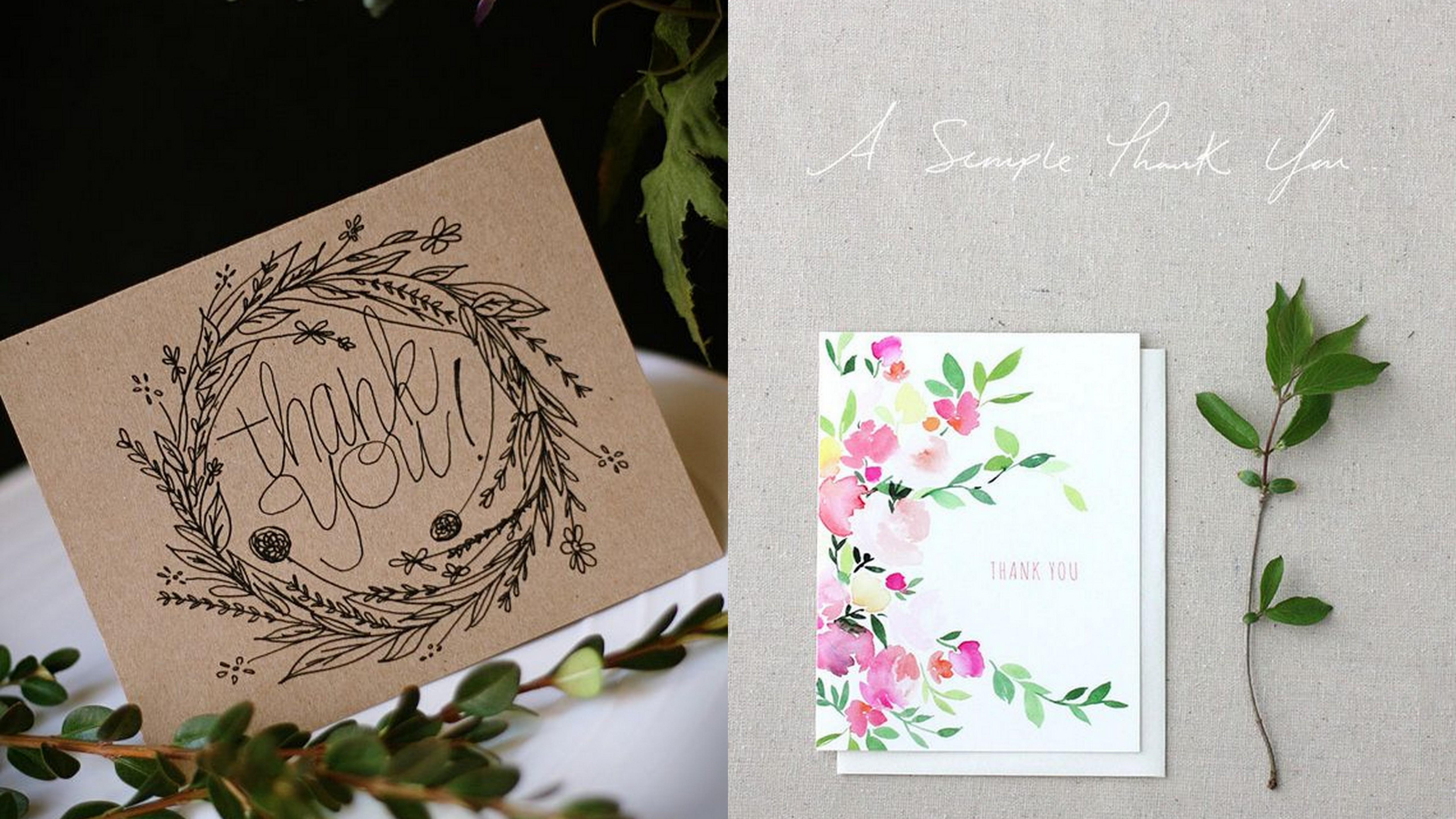 5 best designs and trends of thank you cards