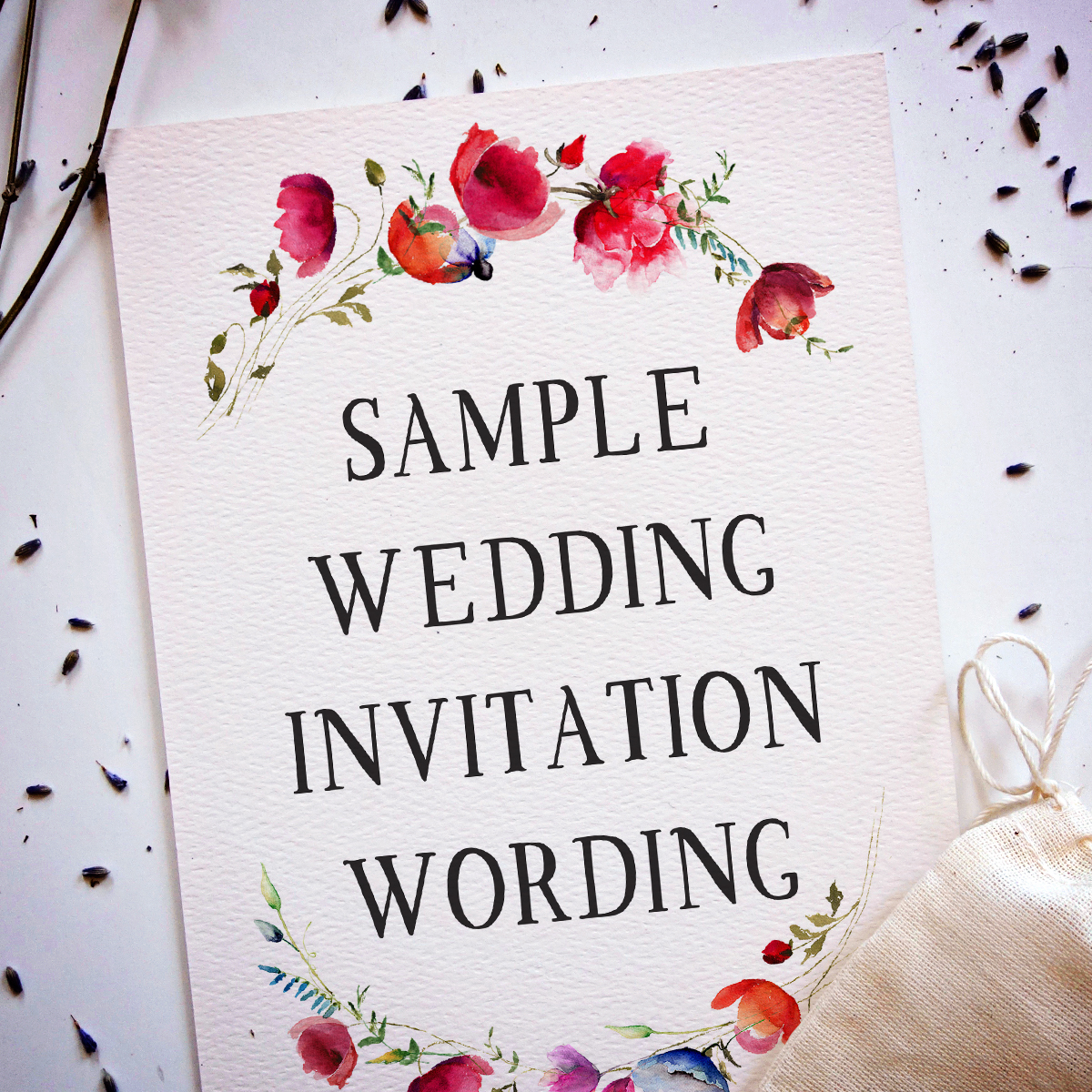 words for wedding invitations