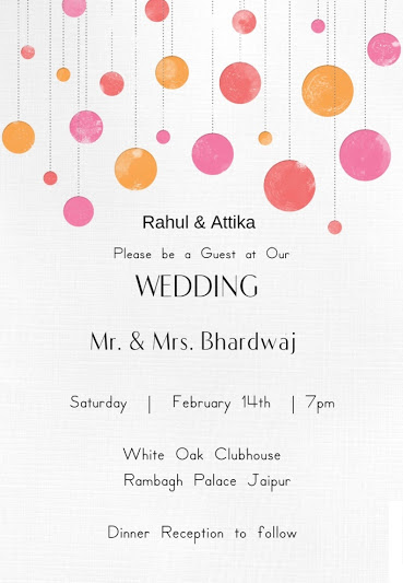 Wedding Wording Samples and Ideas for Indian Wedding Invitations 2016