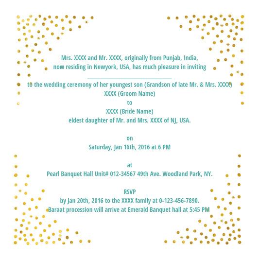 Wedding Wordings- 123WeddingCards