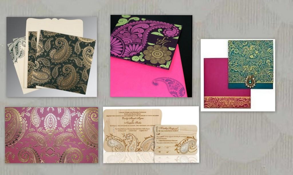 Paisley Designed Muslim Wedding Invitations - 123WeddingCards