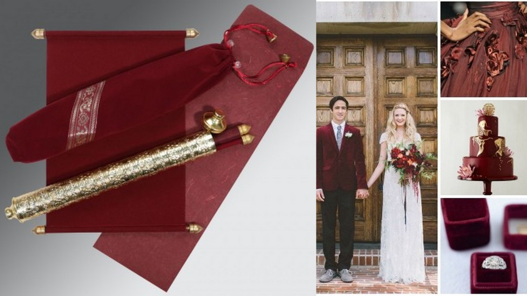 Marsala Color wedding theme