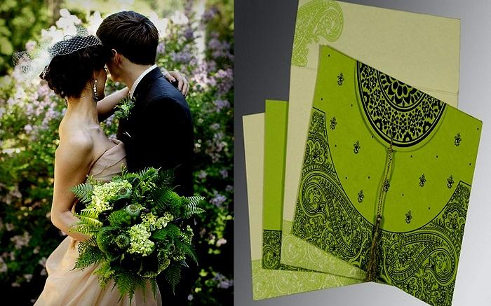 Nature Green Bridal Bouquet - 123WeddingCards