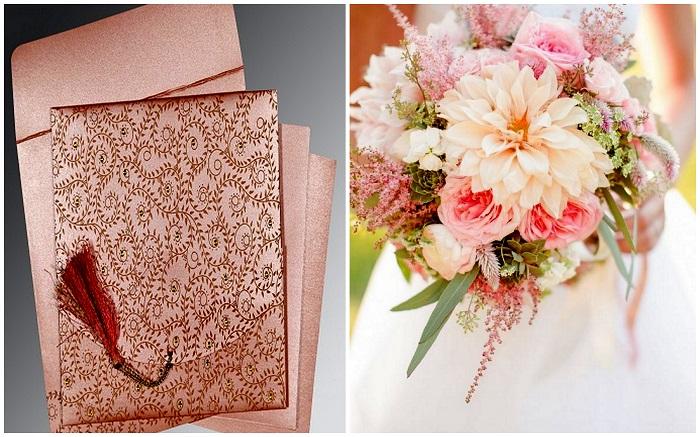 Pink Bridal Bouquet - 123WeddingCards