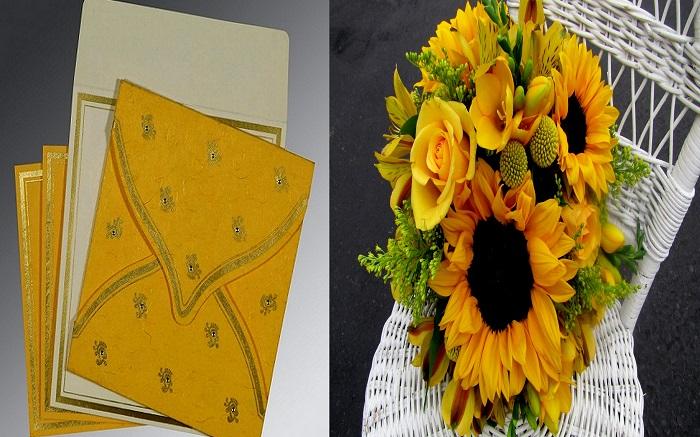 Yellow Bridal Bouquet - 123WeddingCards