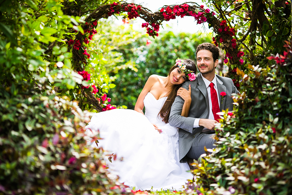 Romantic valentine wedding