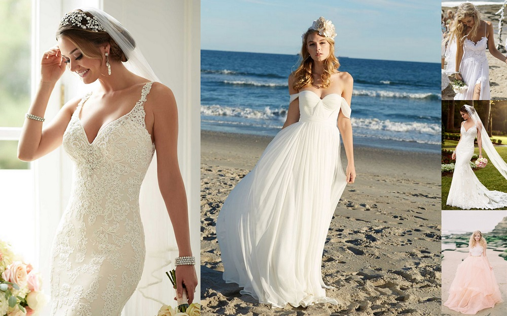 Beach wedding dresses - 123WeddingCards