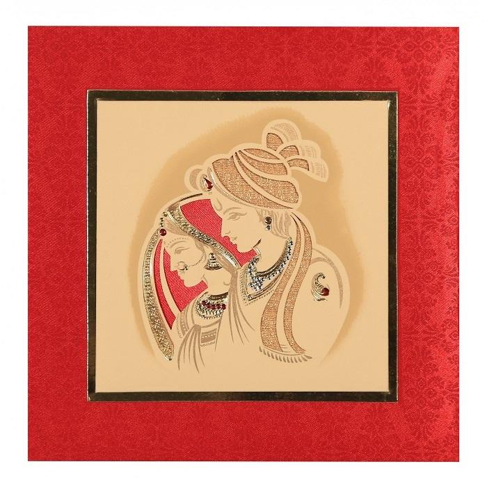 Indian theme wedding invitation design