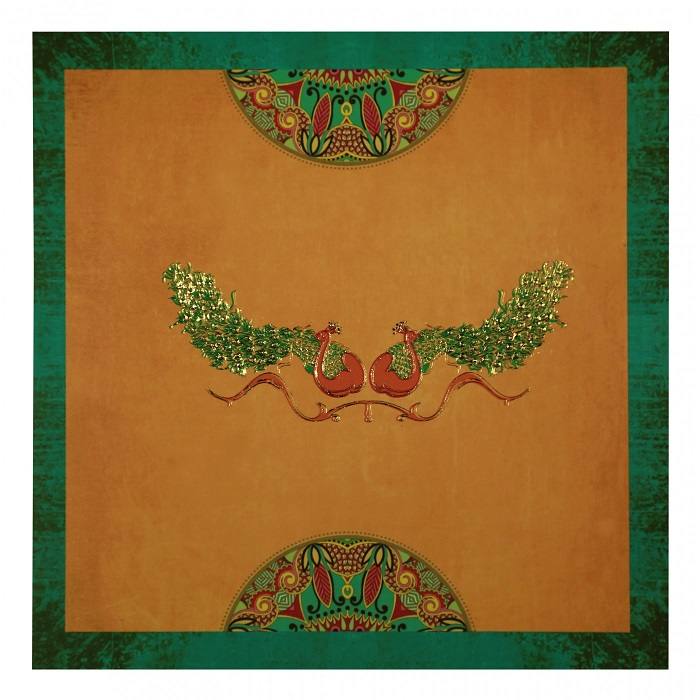 peacock theme wedding cards