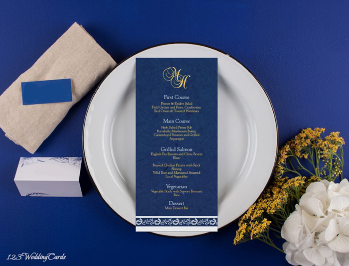 Menu Cards - 123WeddingCards
