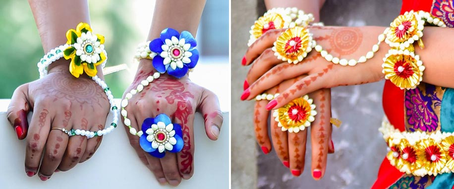 Floral Jewellery Hathphool|123WeddingCards