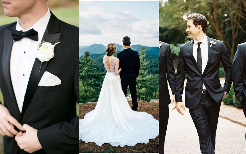 Black Wedding Suits Idea for Men